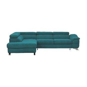 Canapea extensibilă Windsor & Co Sofas Gamma, turcoaz, partea stângă de la Windsor & Co Sofas