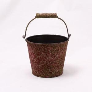 Hnědý plechový obal na květináč Dakls II