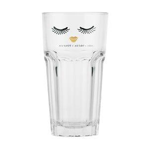 Sklenice Miss Étoile Closed Eyes Gold Lips, 16 cm