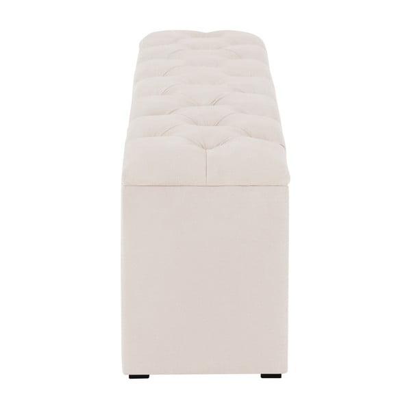 Béžový otoman k posteli s úložným prostorem Kooko Home Manna, 47 x 180 cm
