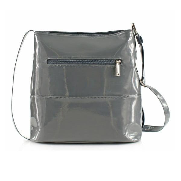Kožená kabelka Boscollo Grey 3443