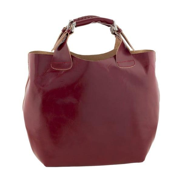 Kožená kabelka Everyday Italia, červená