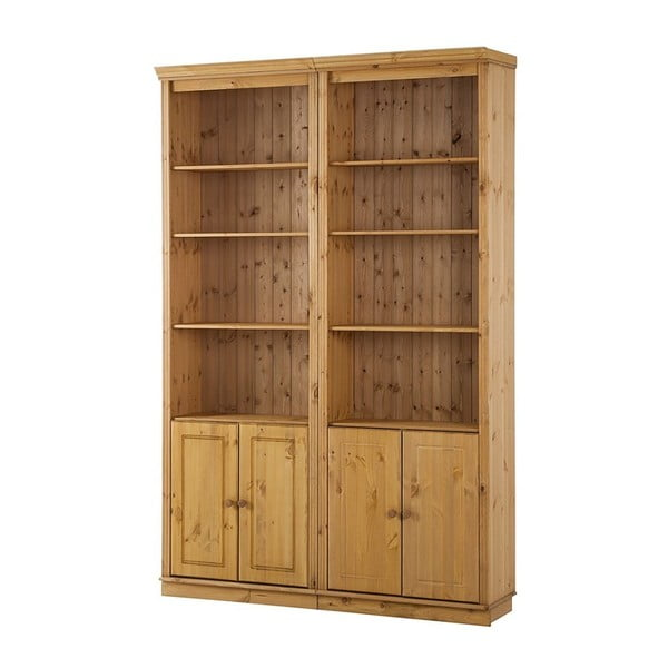 Bibliotecă din lemn de pin Støraa Annabelle, 146 cm, maro