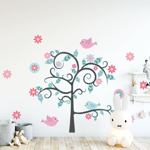 Set autocolante de perete pentru camera copiilor Ambiance Fairy Tree