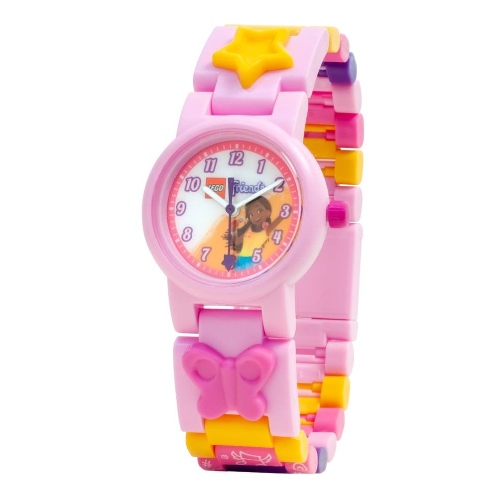 Růžové náramkové hodinky se skládacím řemínkem LEGO® Andrea