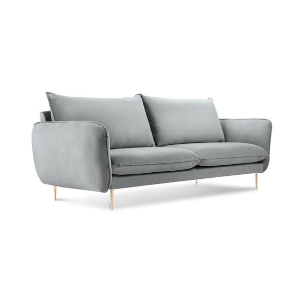 Světle šedá pohovka se sametovým potahem Cosmopolitan Design Florence