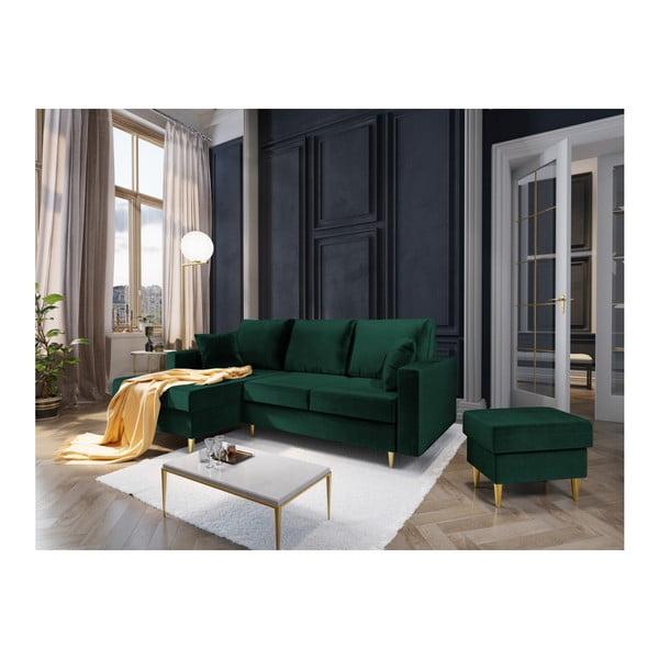 Zelený puf Mazzini Sofas Muguet, 60 x 45 cm
