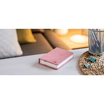 Veioză de birou cu LED Ginko Booklight Mini, formă de carte, roz