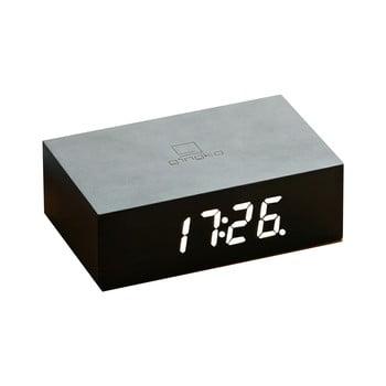 Ceas deșteptător cu LED Ginko Flip Click, negru