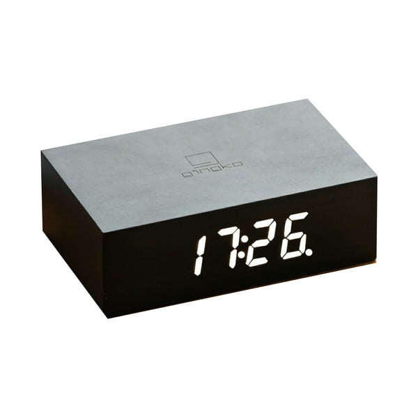 Czarny budzik LED Gingko Flip Click