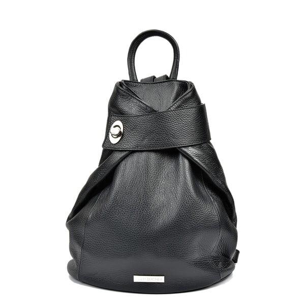 Čierny kožený batoh Anna Luchini Louisa