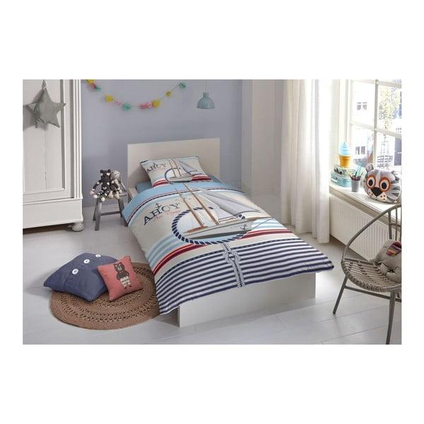 Dětské povlečení z bavlny na jednolůžko z čisté bavlny Good Morning Ahoy, 140x200 cm