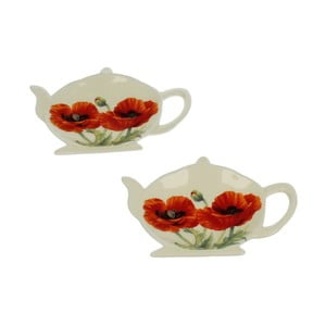 Sada 4 stojánků na čajové sáčky Duo Gift Poppy