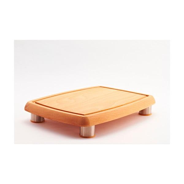 Prkénko z bukového dřeva Bisetti Feet,38x27cm