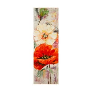 Ručně malovaný obraz Mauro Ferretti Poppy, 40x120cm