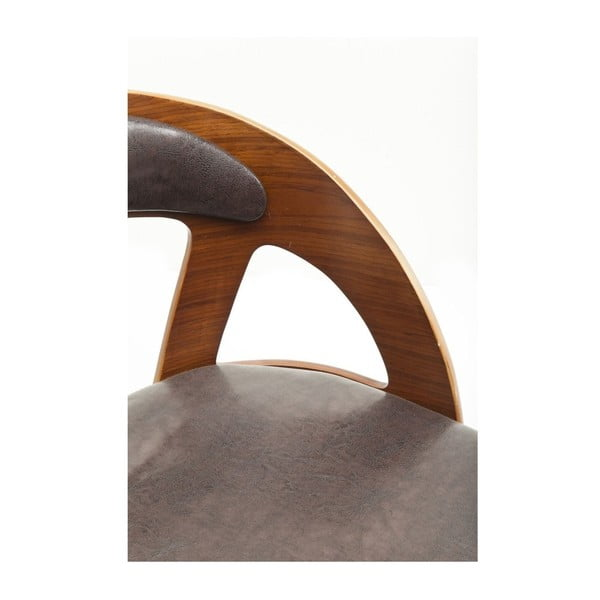 Černá jídelní židle s nožičkami z bukového dřeva Kare Design Manhattan