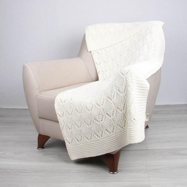 Cotton világosbézs pamut takaró, 170 x 130 cm