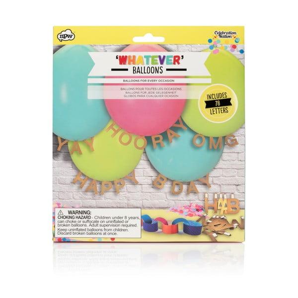 Set balonků a dekorativních písmen NPW Whatever Message