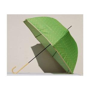 Puntíkatý deštník Dots, zelený