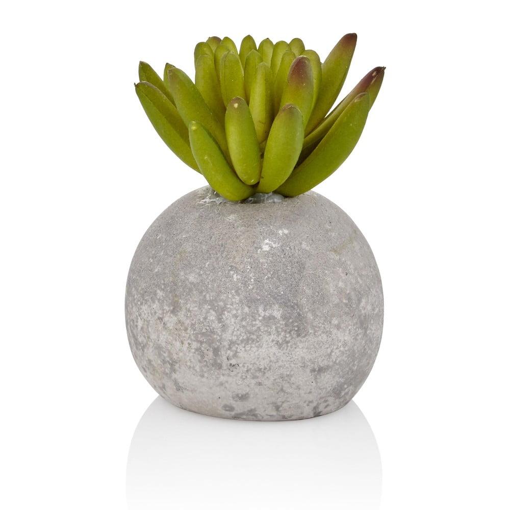 Umělý sukulent v betonovém květináči The Mia Crassula