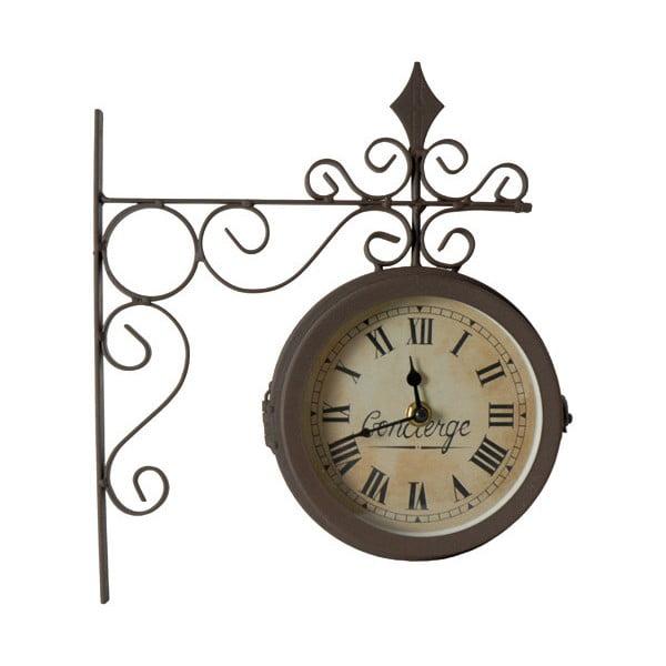Dwustronny zegar ścienny Antic Line Concierge