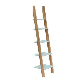 Raft în formă de scară Ragaba ASHME, lățime 45 cm, turcoaz deschis
