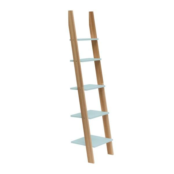 Svetlotyrkysová rebríková polica Ragaba ASHME, šírka45cm
