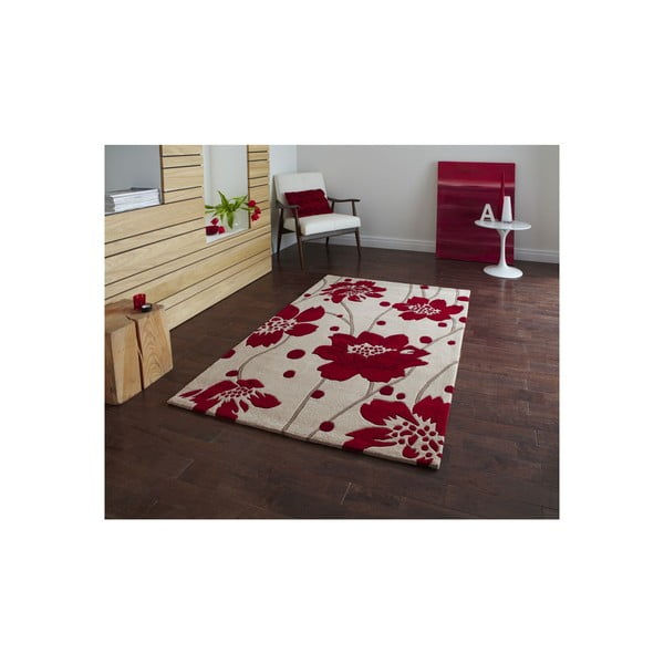 Koberec Hongkong Beige Red, 60x120 cm