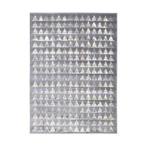 Šedý vysoce odolný koberec Floorita Optical Garro, 117 x 170 cm
