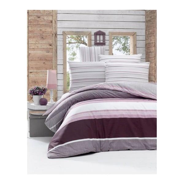 Lenjerie de pat din bumbac ranforce Savoy, 140 x 200 cm, violet