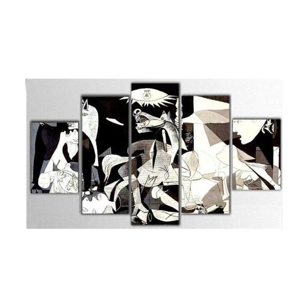 5dílný obraz Drake, 100x60 cm