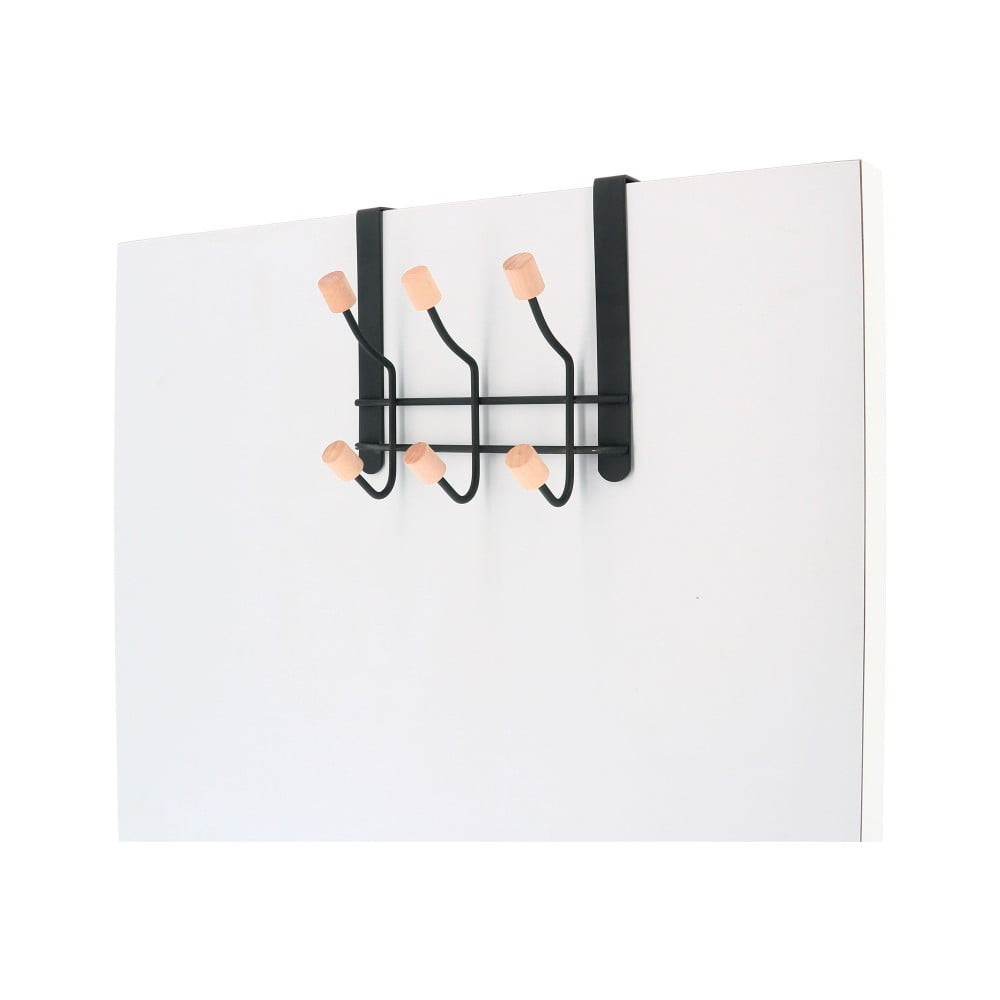 Věšák na dveře z kovu s 6 háčky Compactor