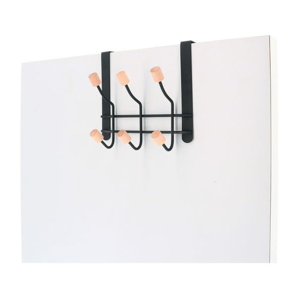 Metalowy wieszak na drzwi z 6 haczykami Compactor