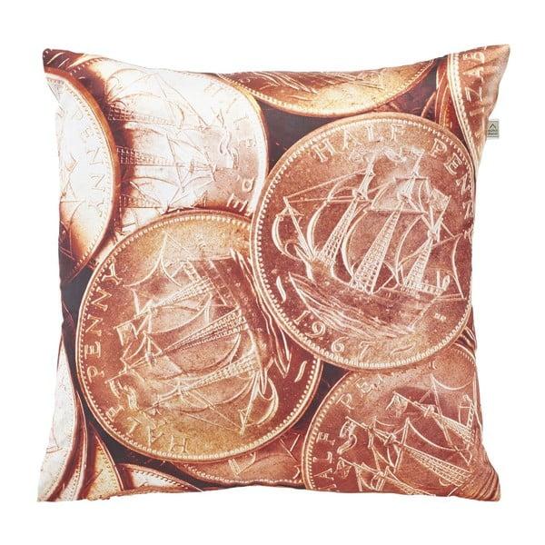Polštář Coins Copper, 45x45 cm