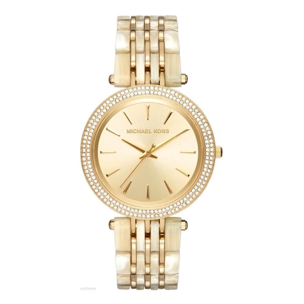 Dámské hodinky ve zlaté barvě lemované kamínky Michael Kors Darci ... 448ff1b9610