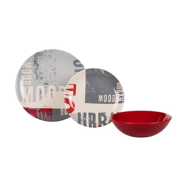 Sada 18 ks keramických talířů Urban