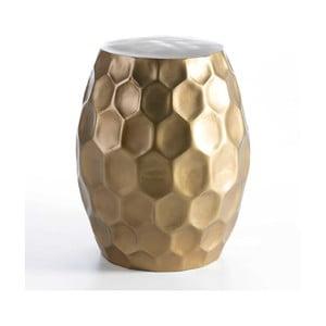 Stolička ve zlaté barvě Thai Natura, ⌀46cm