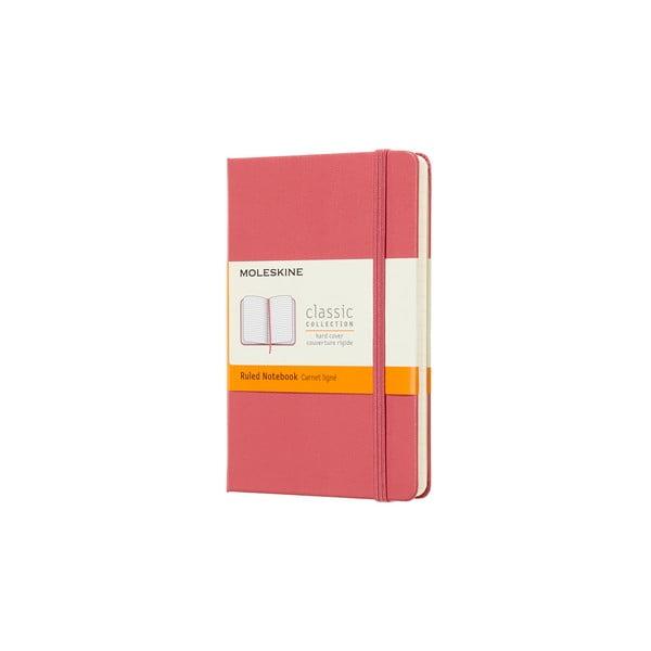 Daisy rózsaszín kemény fedeles, vonalas jegyzetfüzet, 192 oldalas - Moleskine