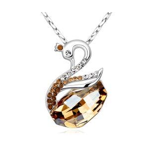 Náhrdelník se žlutými krystaly Swarovski Elements Crystals Swan