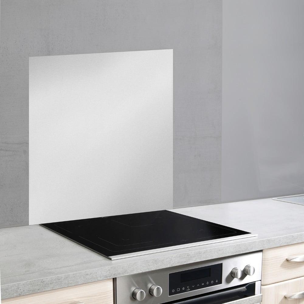 Skleněný kryt na zeď u sporáku ve stříbrné barvě Wenko, 70 x 60 cm
