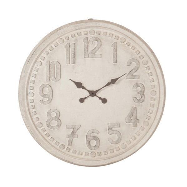 Bílé nástěnné vintage hodiny J-Line, 78 cm