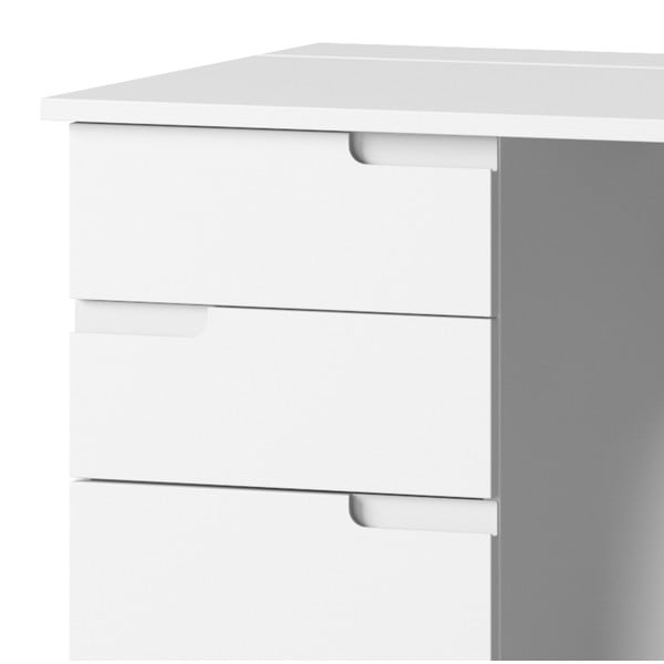 Bílý pracovní stůl se 2 zásuvkami Szynaka Meble Selene