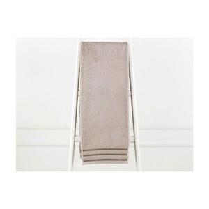 Šedohnědá bavlněná osuška Emily, 90 x 150 cm
