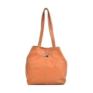 Koňakově hnědá kožená kabelka Mangotti Bags Alma