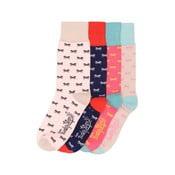 Sada 4 párů barevných ponožek Funky Steps Bow, vel. 35-39