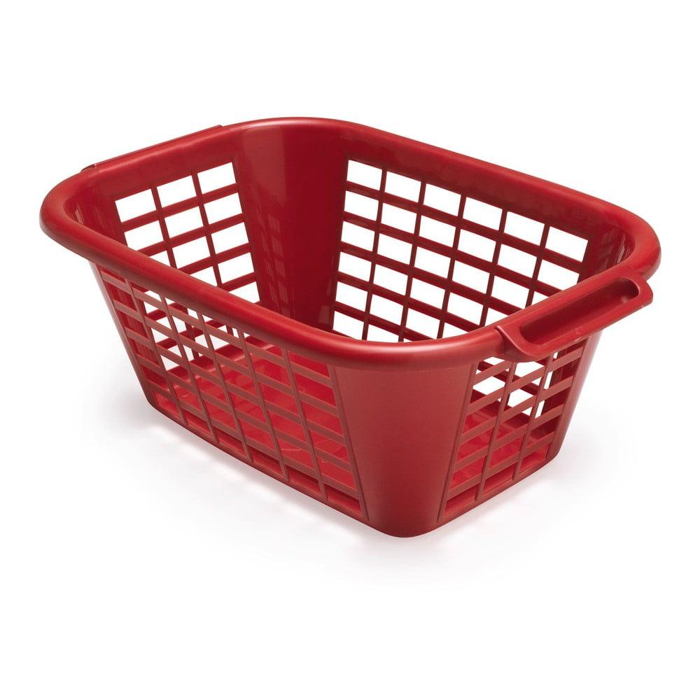Červený koš na prádlo Addis Rect Laundry Basket, 40 l