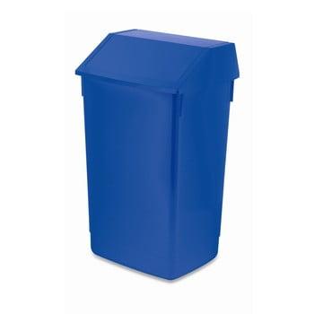 Coș de gunoi cu capac pe balamale Addis, 41 x 33,5 x 68 cm, albastru imagine