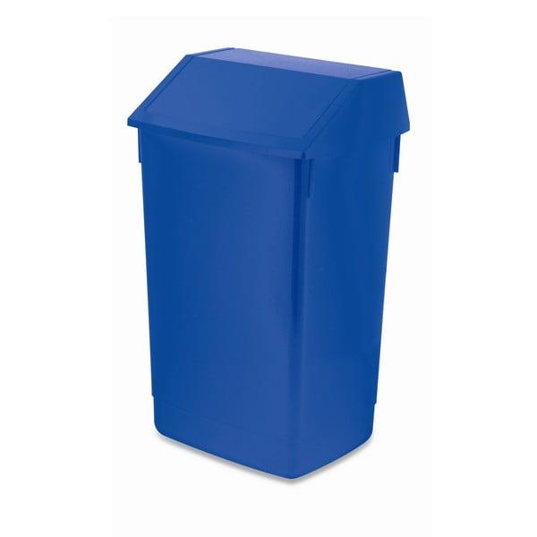 Modrý odpadkový kôš s vyklápacím vrchnákom Addis, 41 x 33,5 x 68 cm