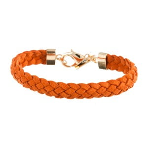 Náramek Strand braided gold, orange