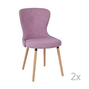 Sada 2 fialových židlí RGE